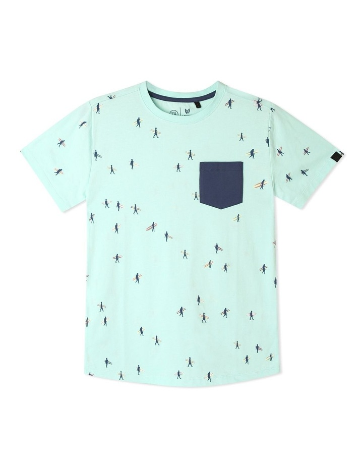 Print T-shirt with Chest Pocket image 1
