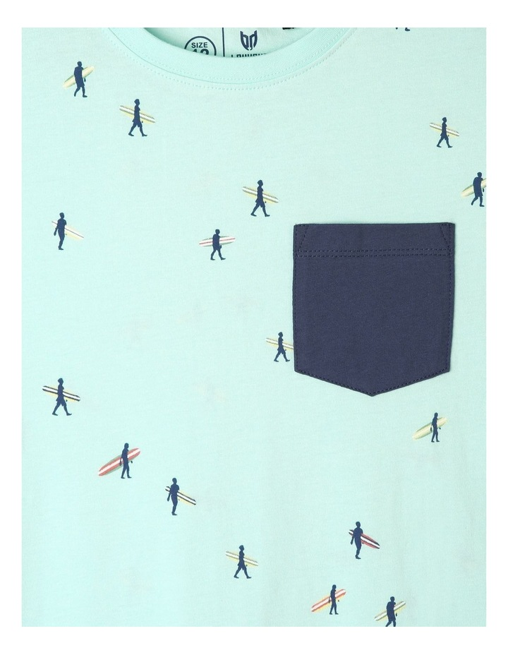 Print T-shirt with Chest Pocket image 2