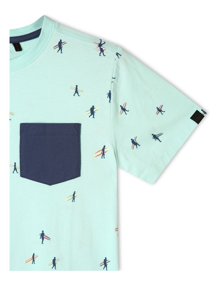 Print T-shirt with Chest Pocket image 3