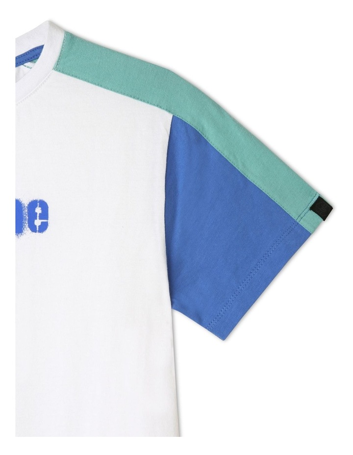 Splice T-Shirt with Curved Hem image 3