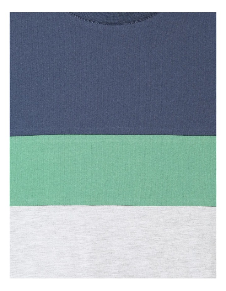 Splice T-shirt with Curved Hem image 2