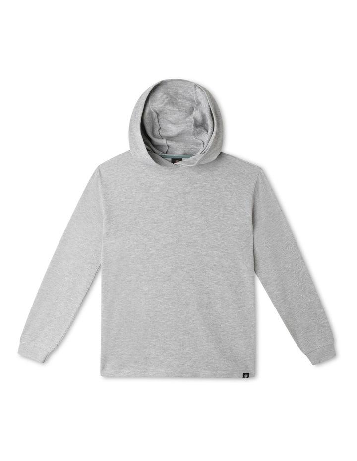 Waffle T-Shirt with Hood image 1