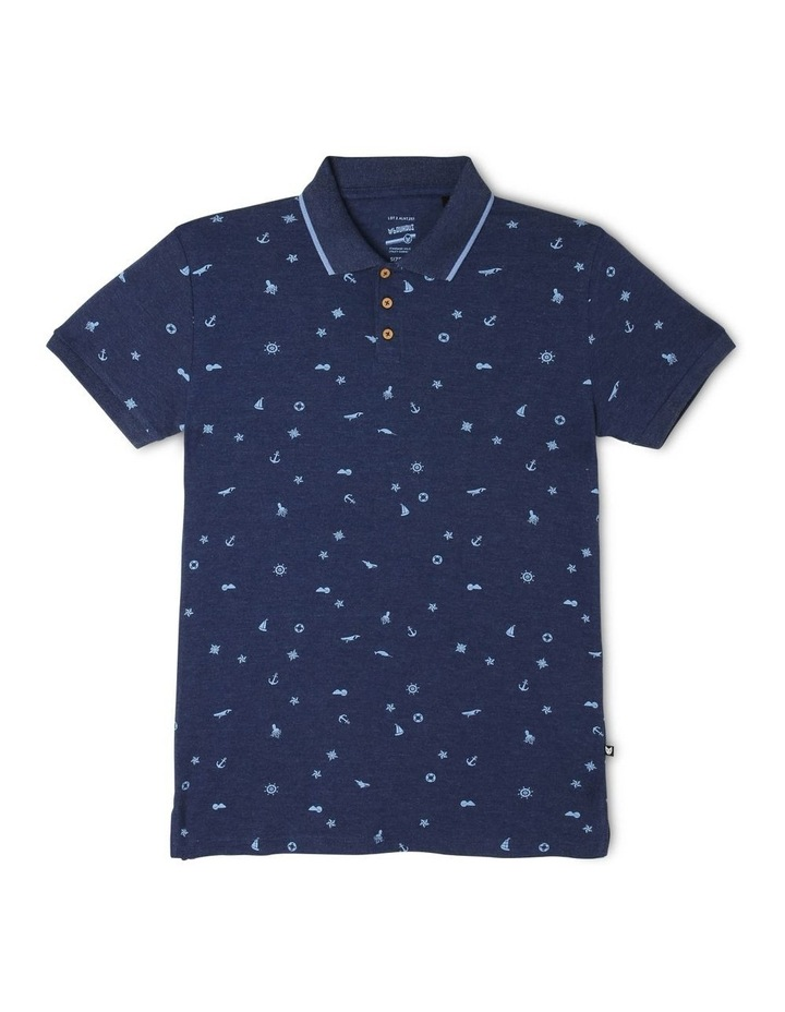 Into the Harbour Printed Polo Shirt image 1
