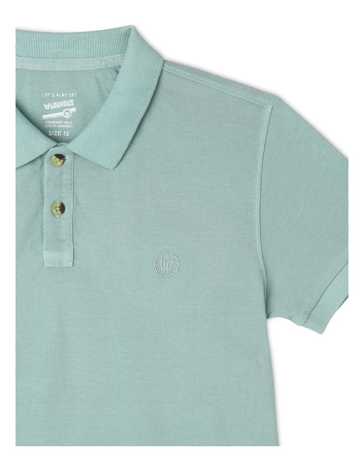 Polo Shirt in Green image 2