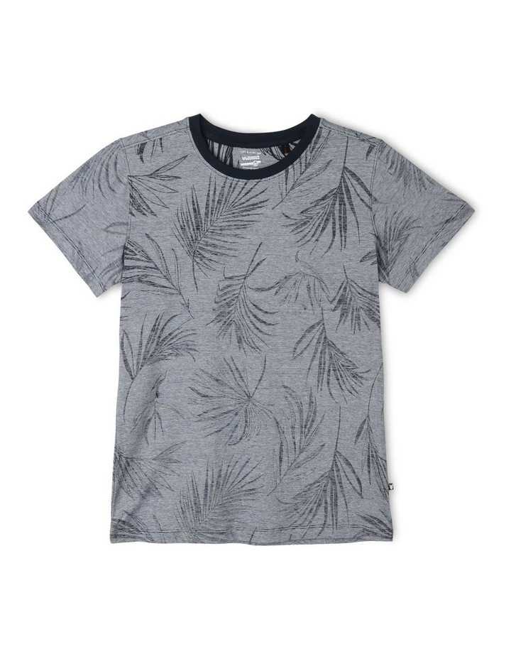 Tropical Print Stripe T-Shirt image 1