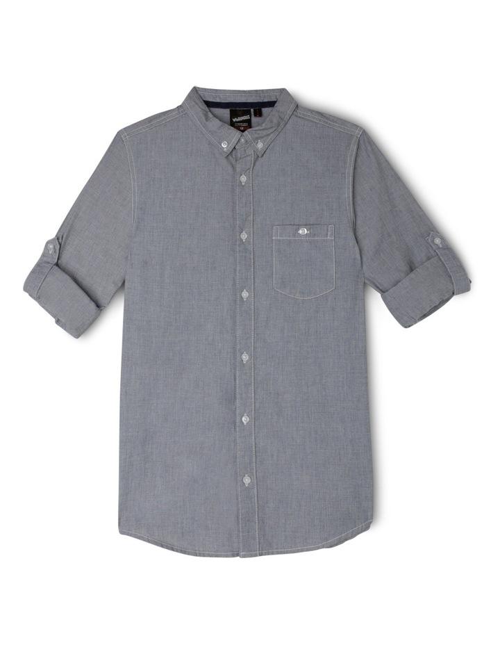 Yarn Dye Roll Up Long Sleeve Shirt image 1