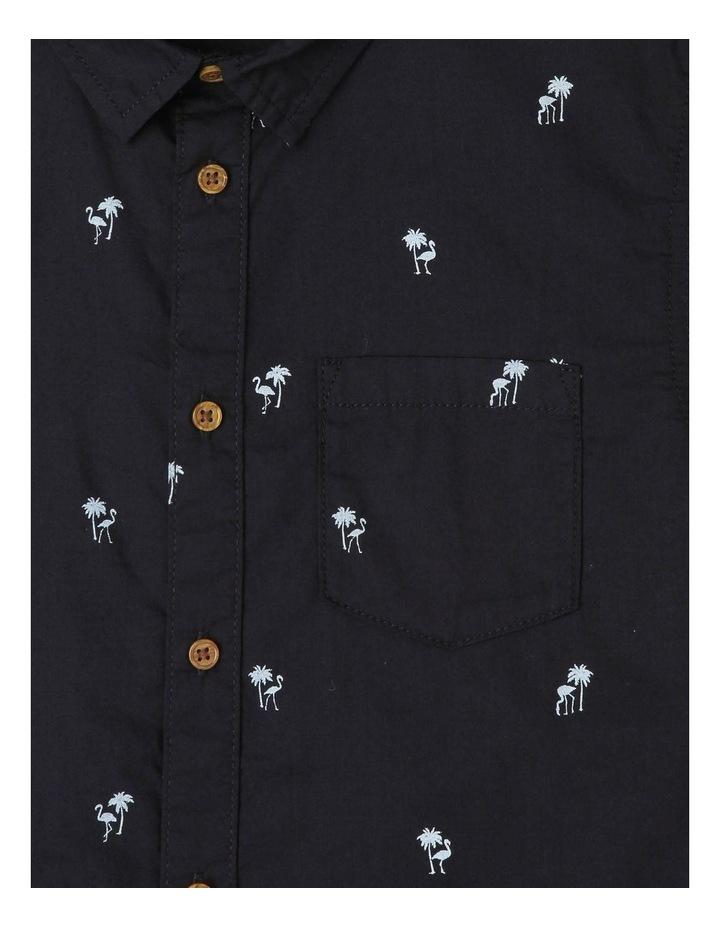 Flamingo and Palm Tree Print Shirt image 2
