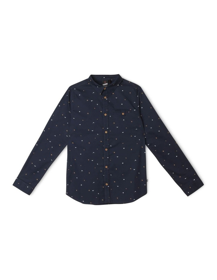 Bird Print Shirt in Navy image 1