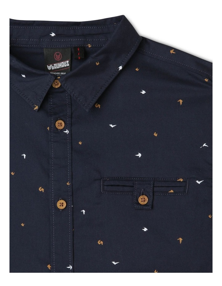 Bird Print Shirt in Navy image 3