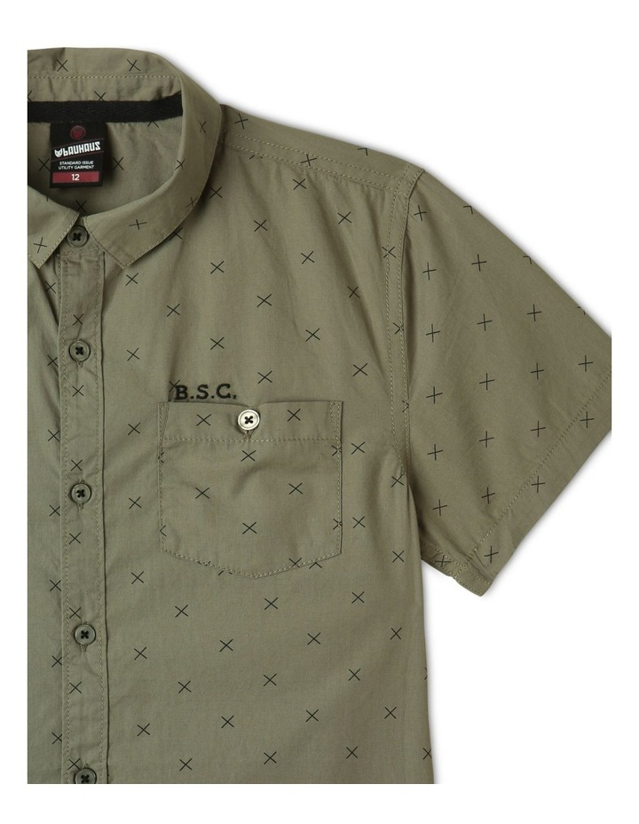 Poplin Short Sleeve Shirt Khaki image 2