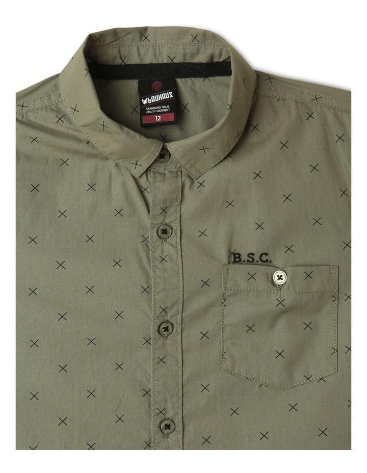 Poplin Short Sleeve Shirt Khaki image 3
