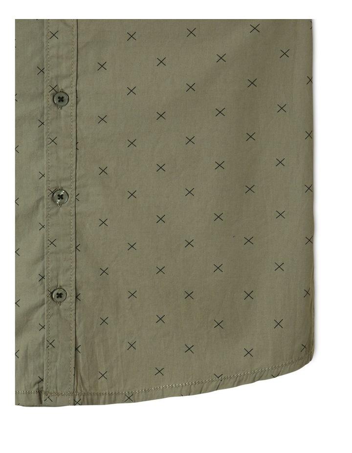 Poplin Short Sleeve Shirt Khaki image 4