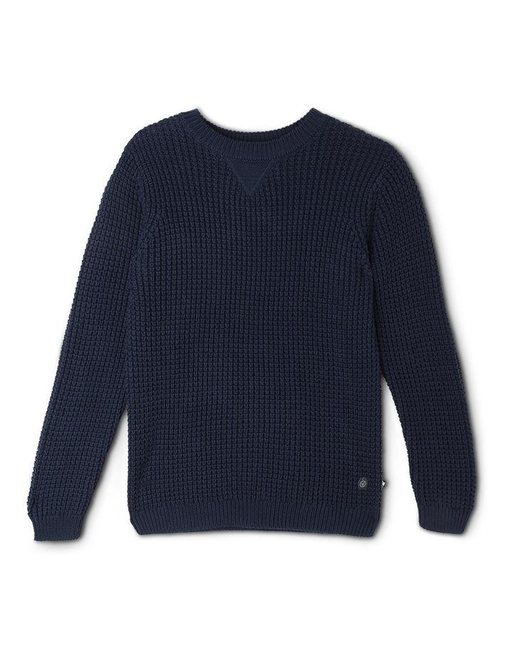 Crew Neck Tuck Stitch Sweater image 1