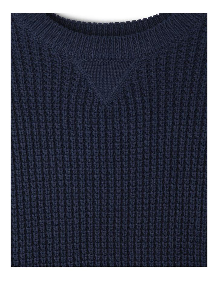 Crew Neck Tuck Stitch Sweater image 2