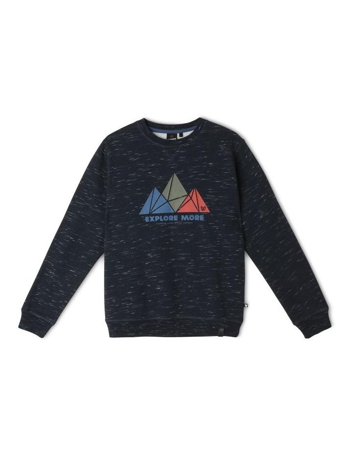 Essential Sweat Top - Mountain Geo image 1
