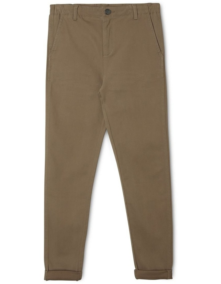 Washed Chino Pant in Khaki image 1