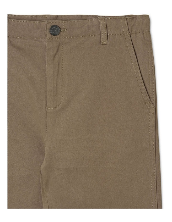 Washed Chino Pant in Khaki image 3