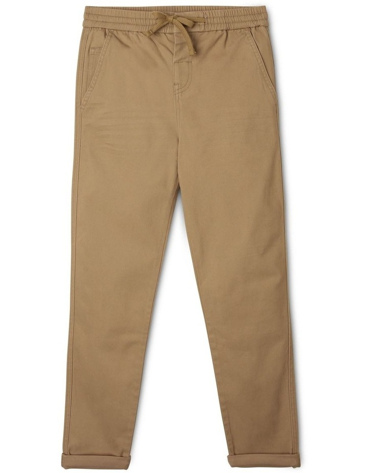 Pull-On Chino Pant in Oatmeal image 1