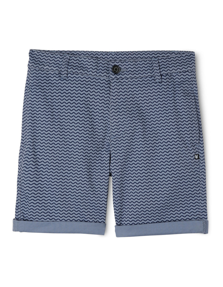 Stretch Aop Chino Short Side Entry Pockets image 1