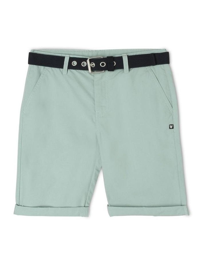 Chino Short with Belt image 1