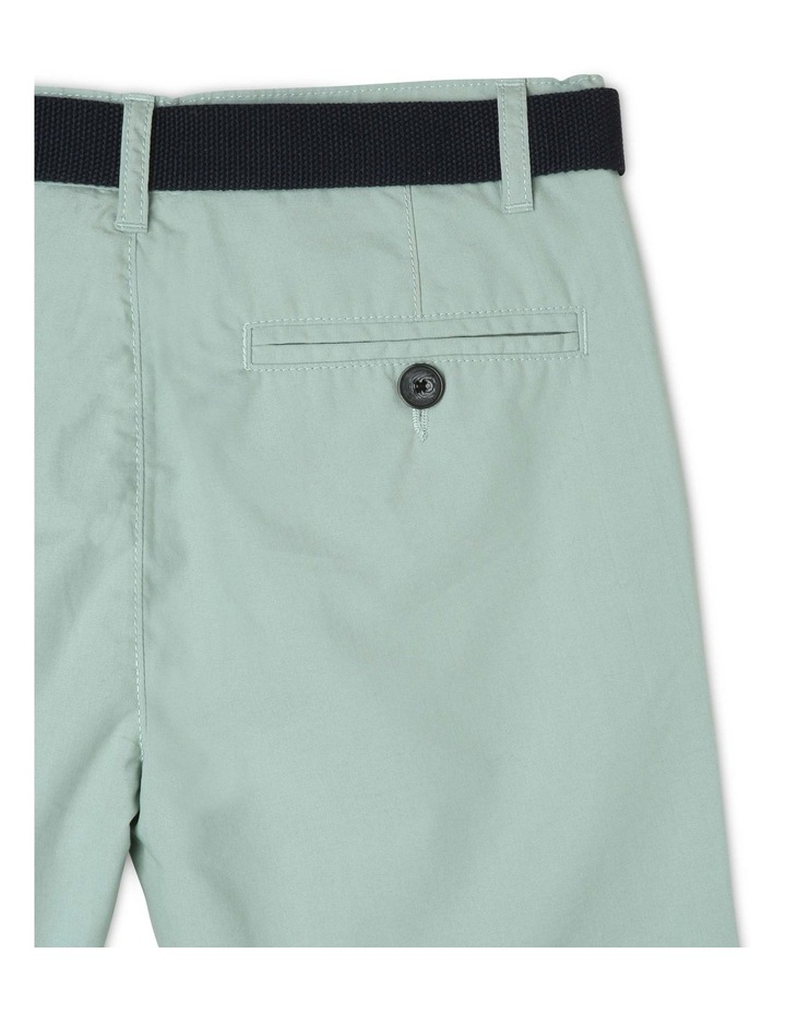 Chino Short with Belt image 4