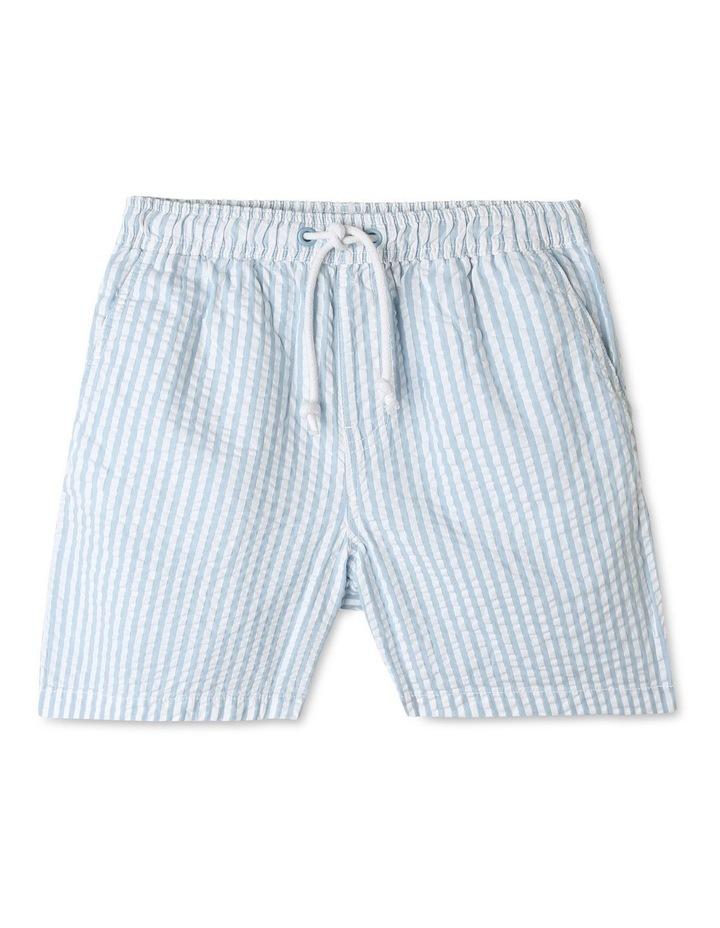 Pull On Seersucker Shorts image 1