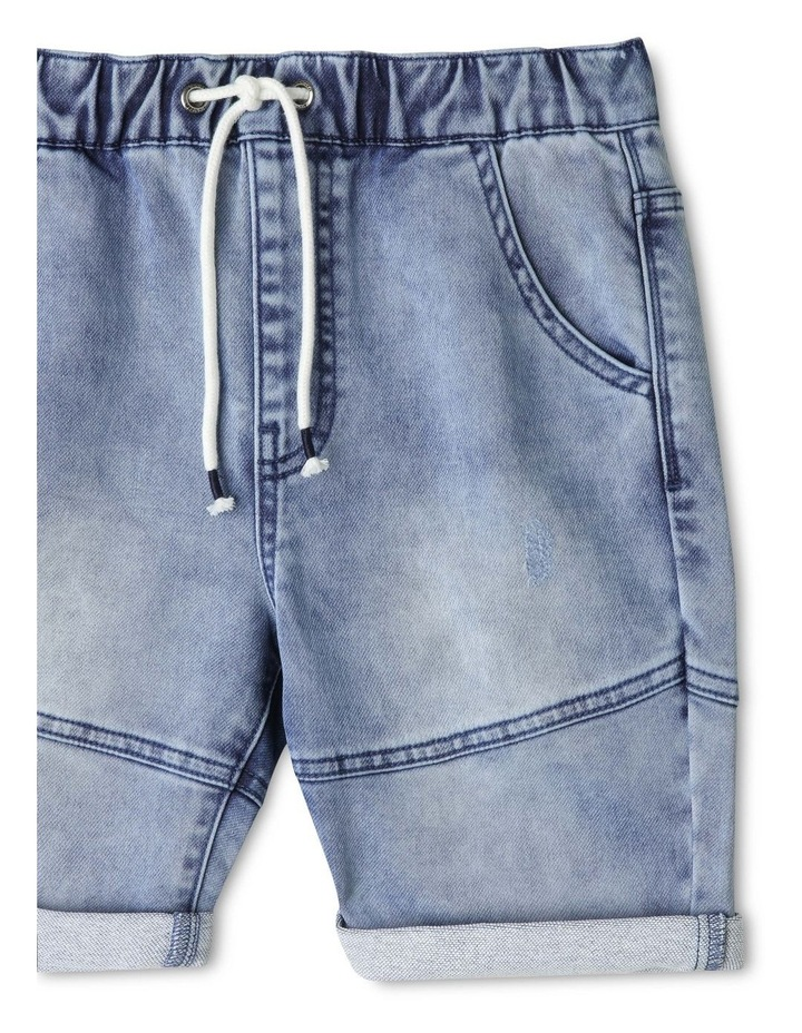 Pull On Denim Shorts image 3