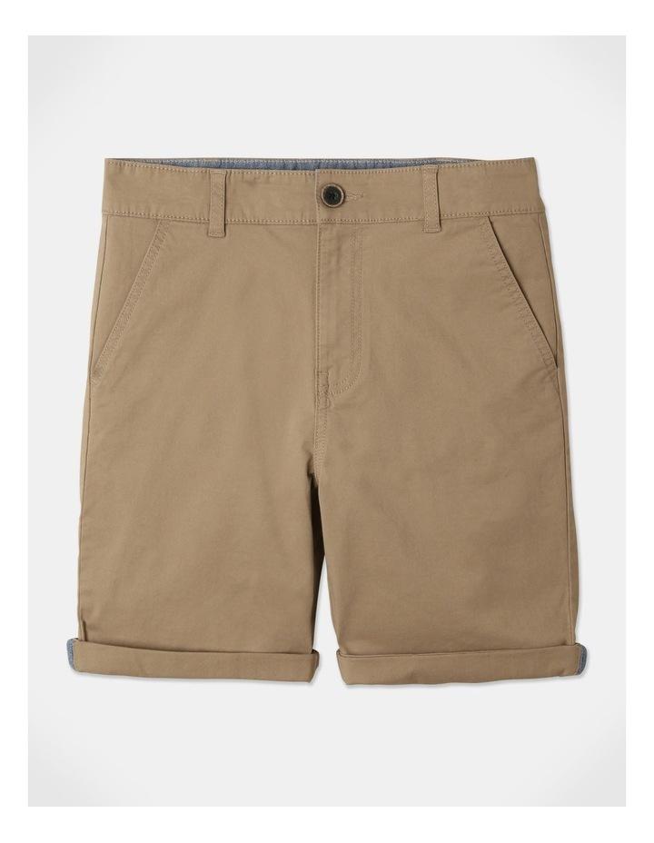 Stretch Chino Shorts Tan image 1
