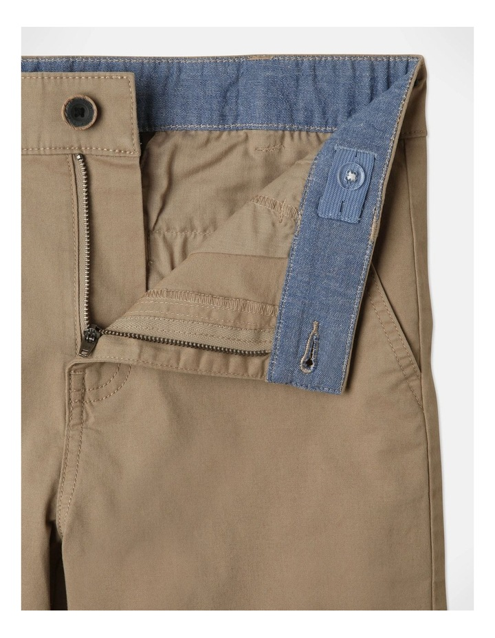 Stretch Chino Shorts Tan image 3