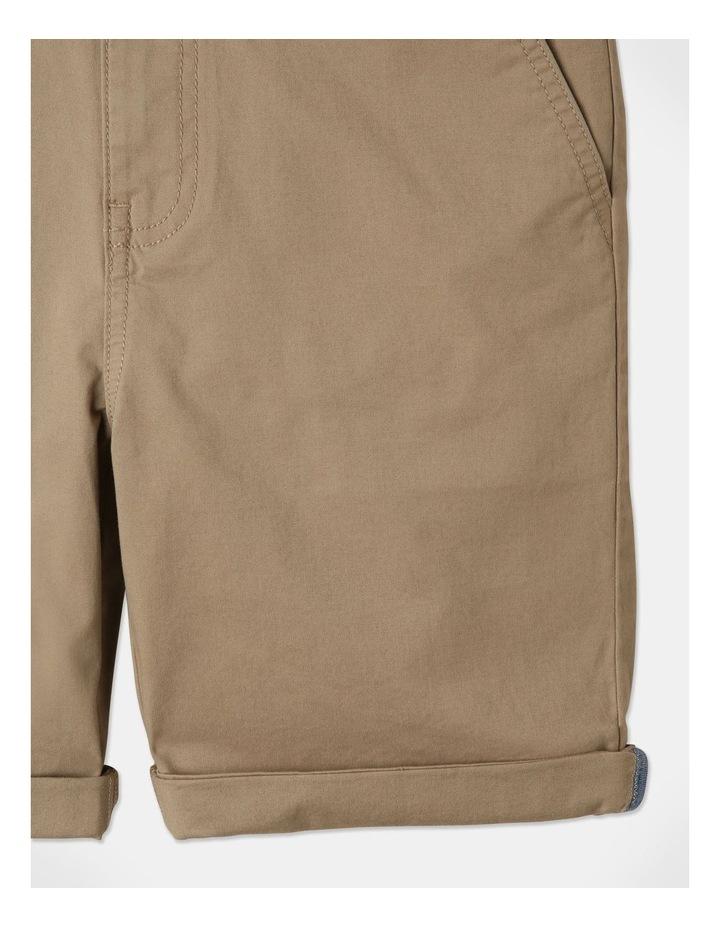 Stretch Chino Shorts Tan image 4