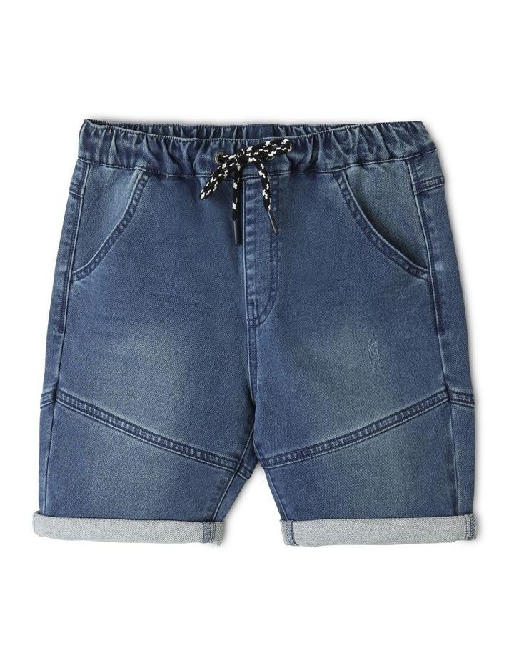 Pull-On Knit Denim Shorts image 1