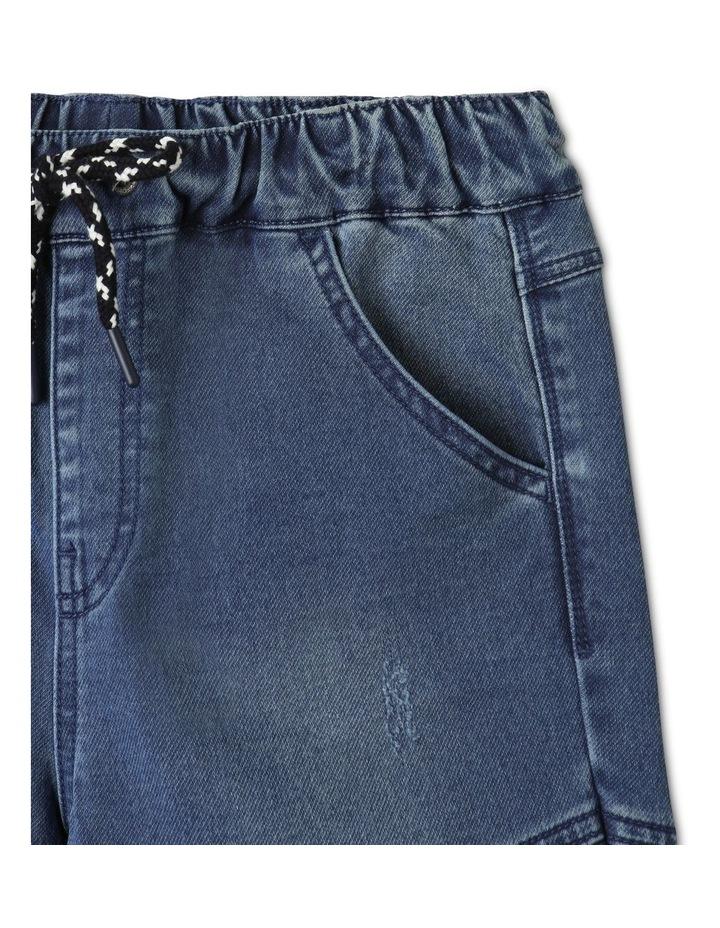 Pull-On Knit Denim Shorts image 2