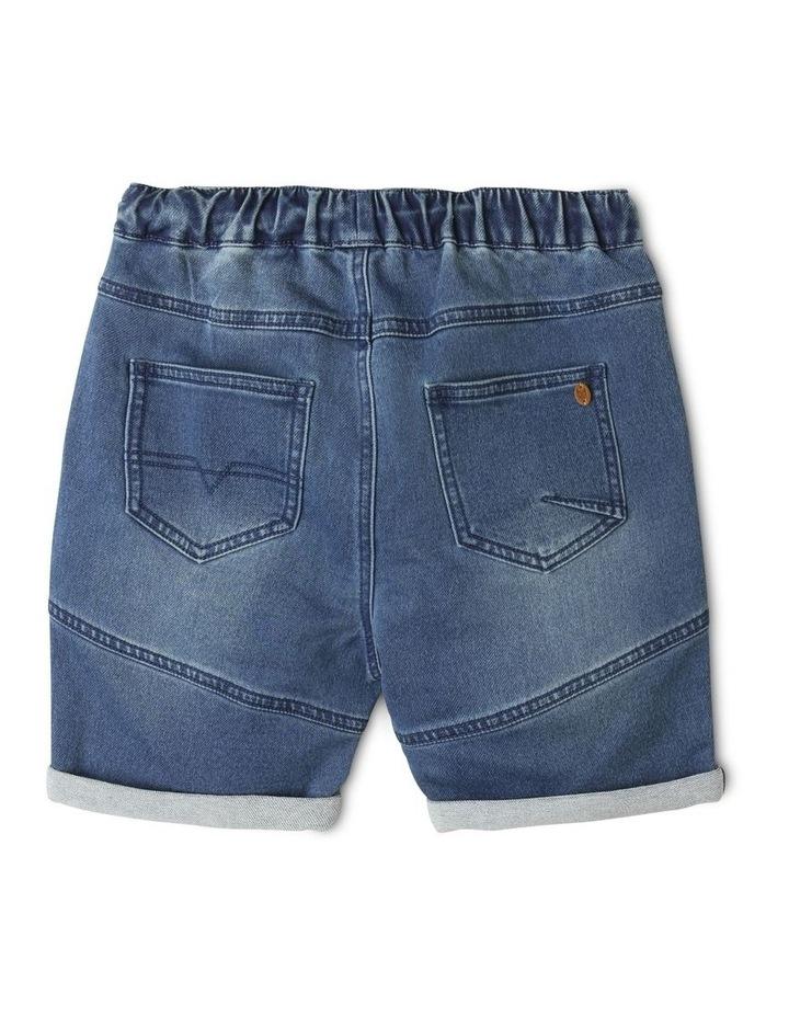 Pull-On Knit Denim Shorts image 5