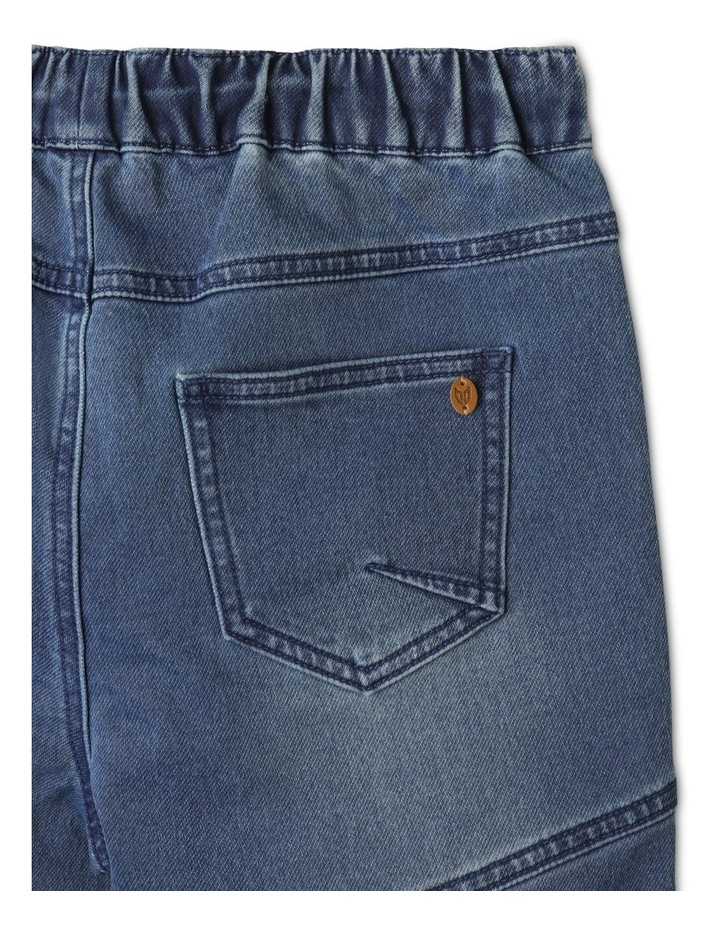 Pull-On Knit Denim Shorts image 6