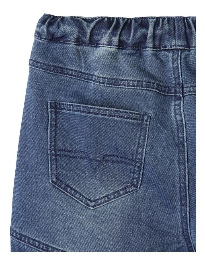 Pull-On Knit Denim Shorts image 7
