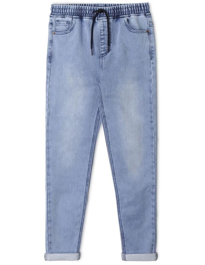 Pull On Knit Denim Jean image 1