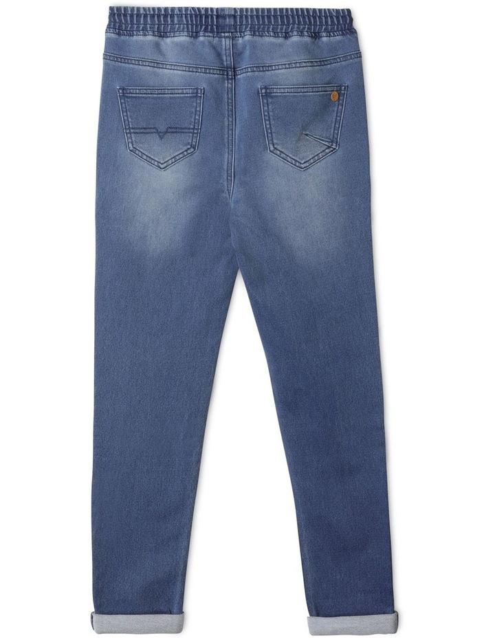 Pull On Knit Denim Jean image 3