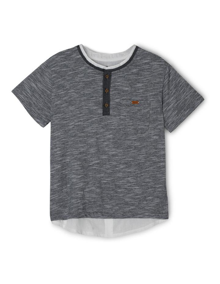 Slub Henley Woven Shirt Tail image 1