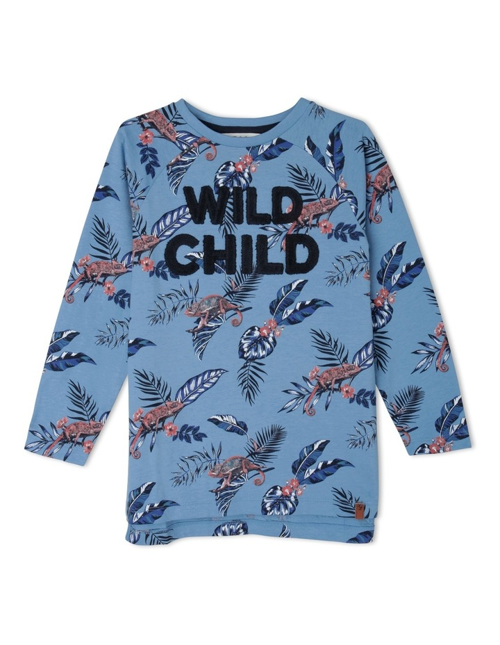 Tee Long Sleeve Raglan Wild Child image 1
