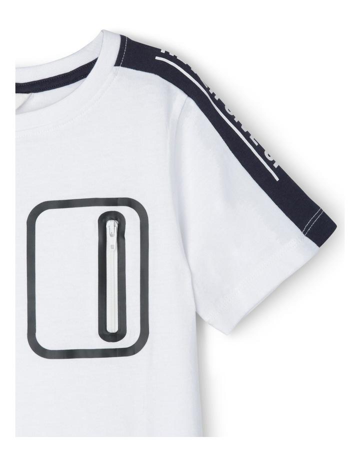 Tee Short Sleeve Pocket Rubber Printed image 2