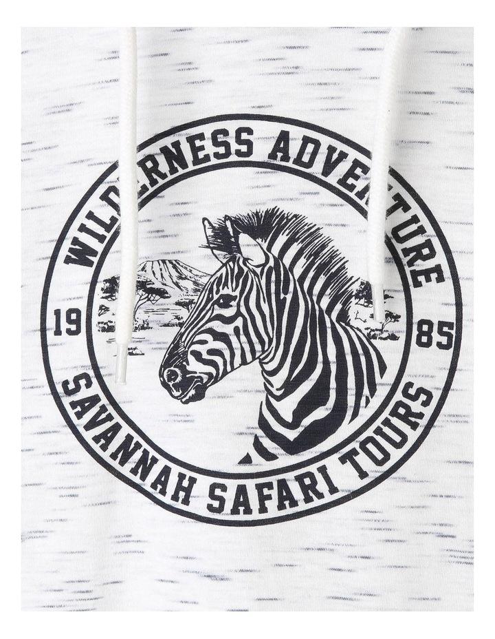 Hooded Zebra Print Tee image 3
