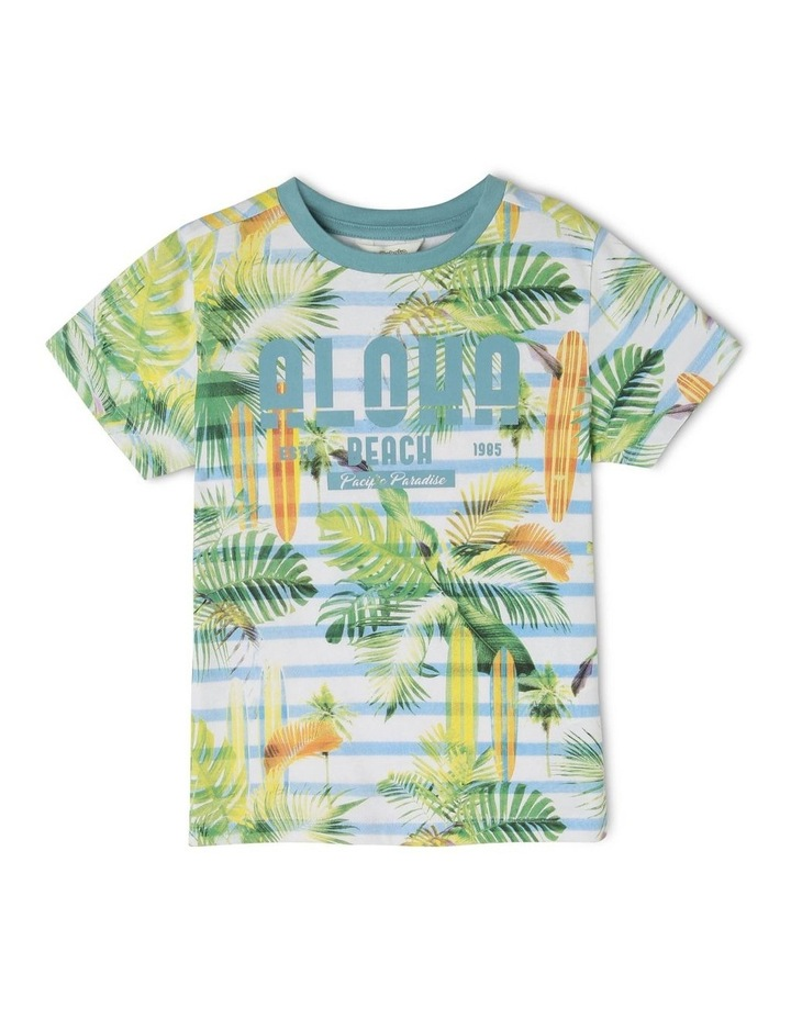Birds And Ferns Striped T-Shirt image 1
