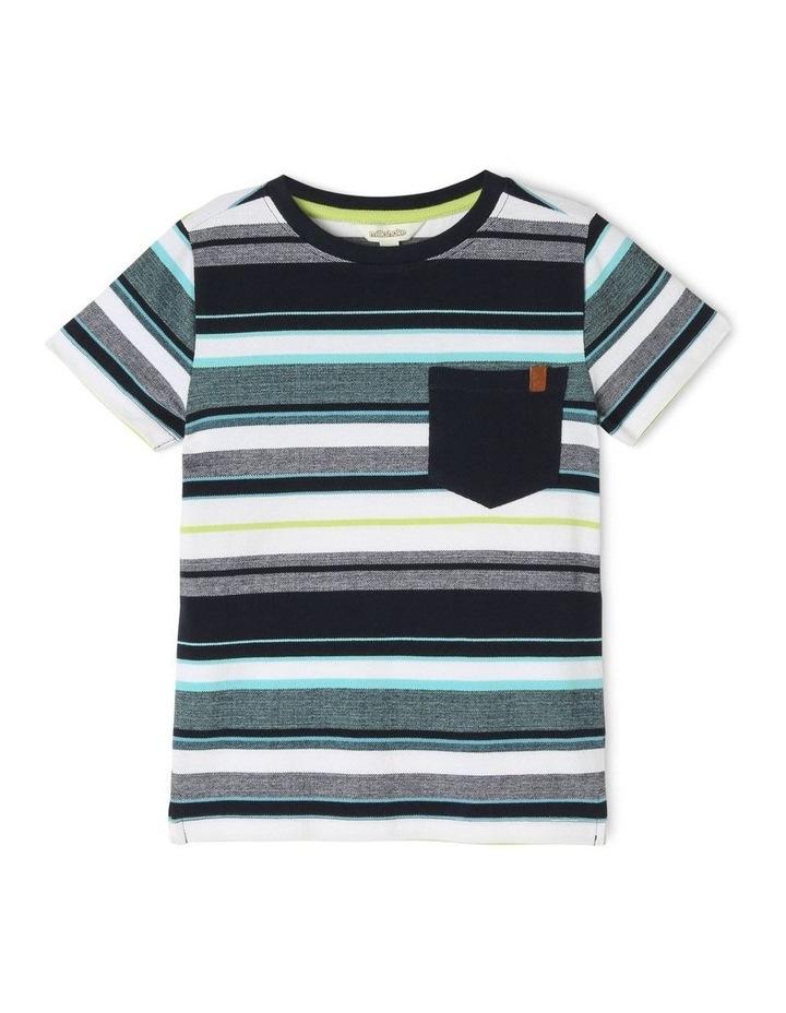 Striped Print T-Shirt image 1