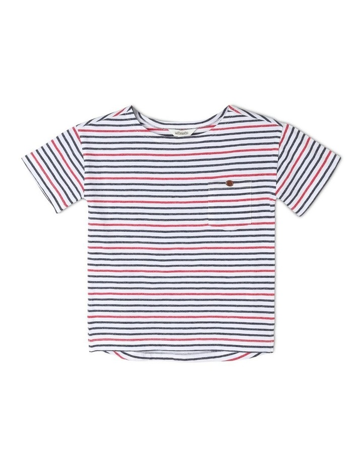 Boat-Neck Striped T-Shirt image 1