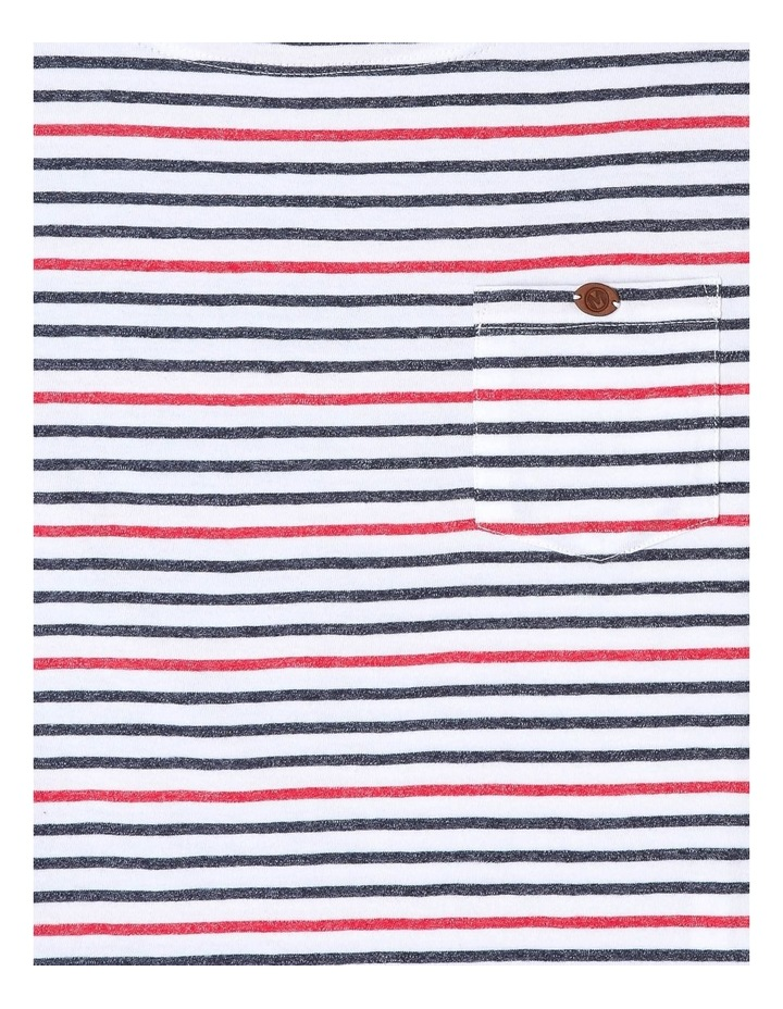 Boat-Neck Striped T-Shirt image 2