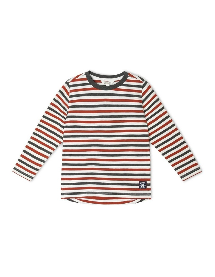 Yarn-Dyed Slub Stripe T-Shirt image 1
