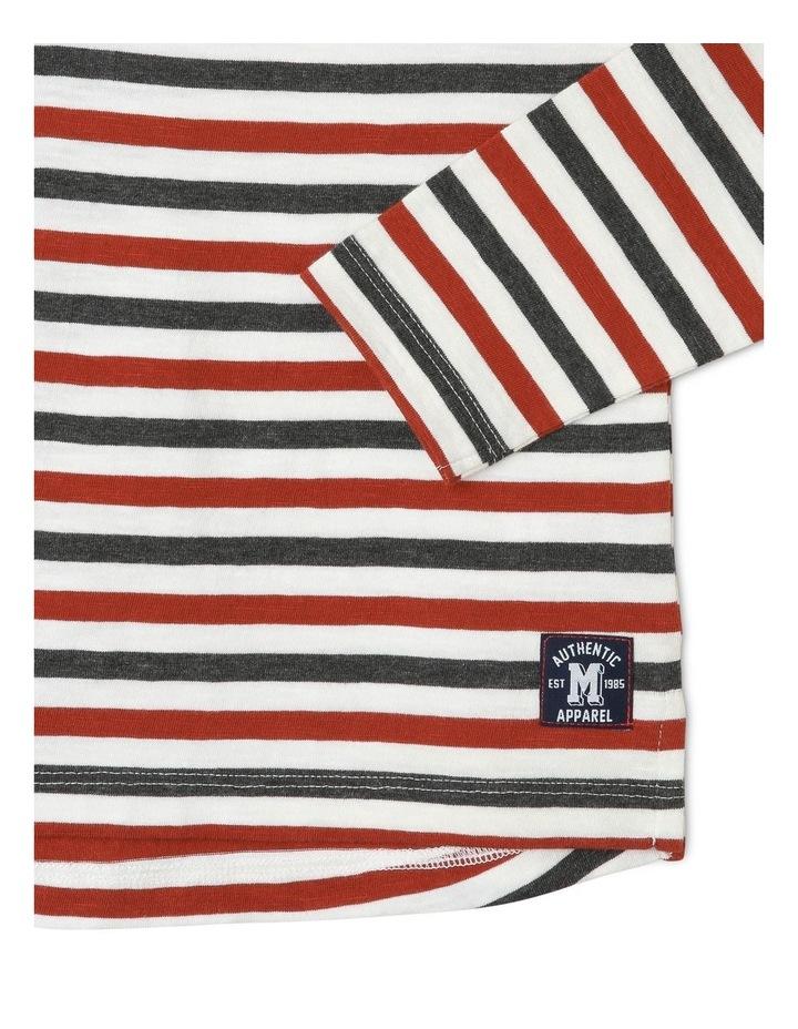 Yarn-Dyed Slub Stripe T-Shirt image 3