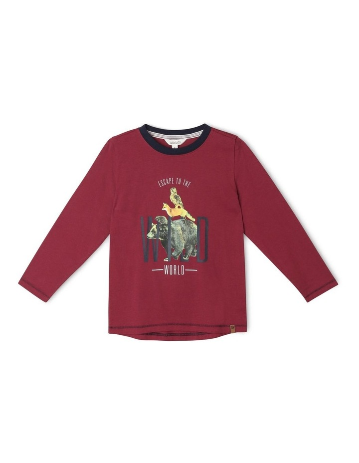 Graphic Long-Sleeve T-Shirt Into the Wild image 1