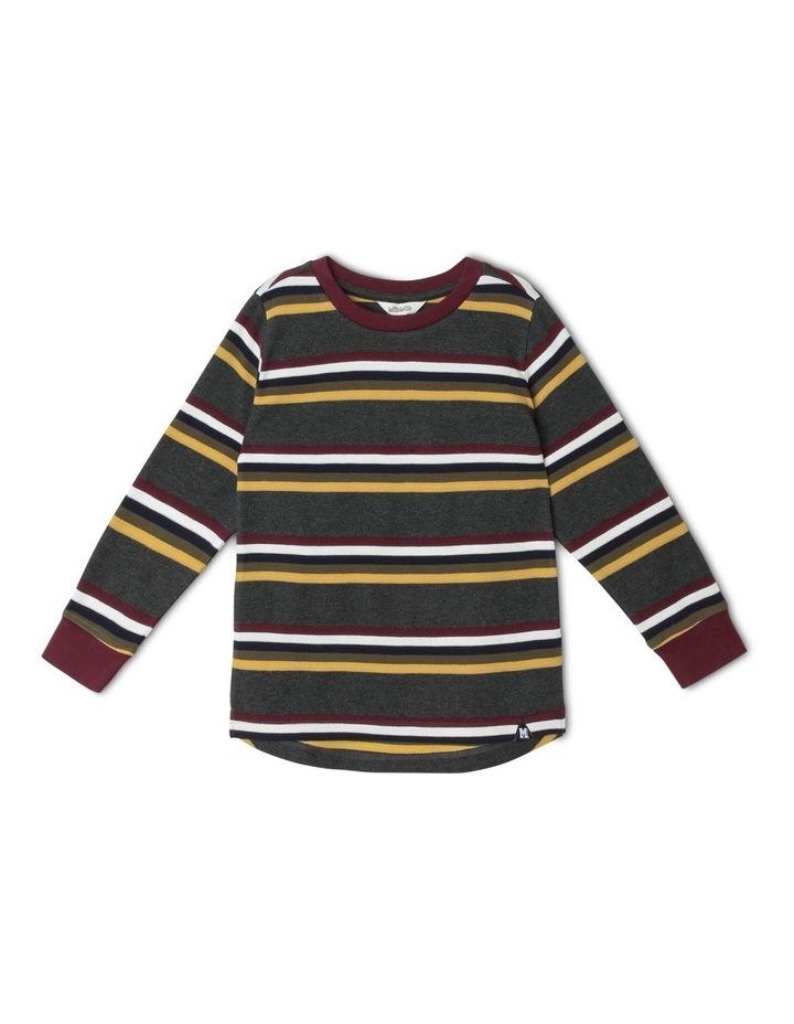 Waffle Long-Sleeve Stripe T-Shirt image 1