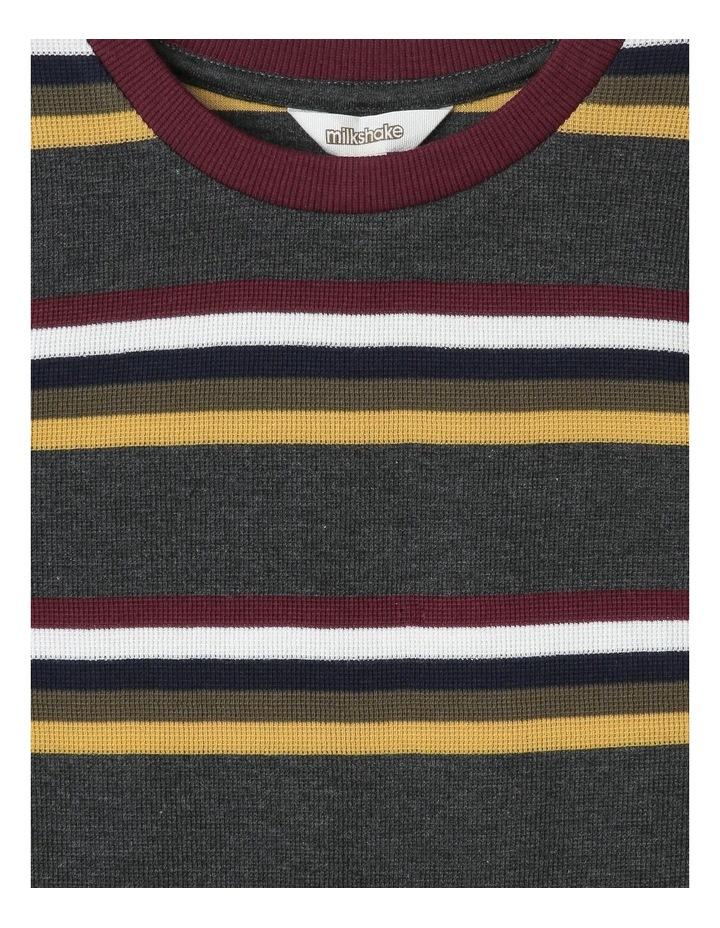 Waffle Long-Sleeve Stripe T-Shirt image 2